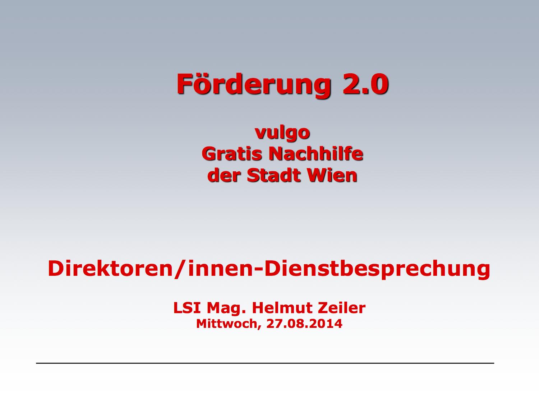 Förderung 2.0