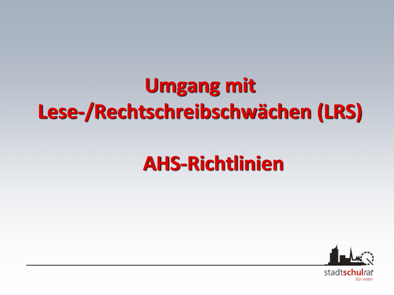 LRS – Lese-/Rechtschreibschwäche