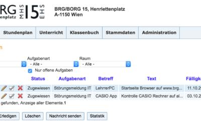 Ticketsystem für IT-Störungsmeldungen