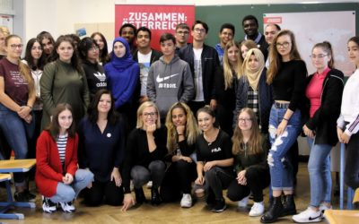 ZUSAMMEN ÖSTERREICH – Integrationsbotschafter/innen zu Besuch in der 5E